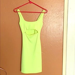 Forever 21 neon green dress $10 size small worn 1